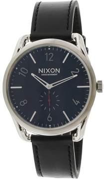 Nixon Men's C45 Leather A465008 Silver Japanese Quartz Dress Watch