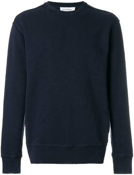 Jil Sander raw stitch crew neck sweater