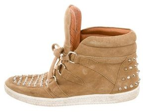Sandro Studded High-Top Sneakers