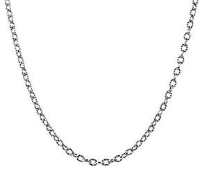 American West Sterling 15 Curb Link Chain Necklace