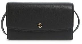 Tory Burch Women's Leather Wallet Crossbody Bag - Black