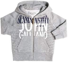 John Galliano Hooded Cotton Blend Sweatshirt