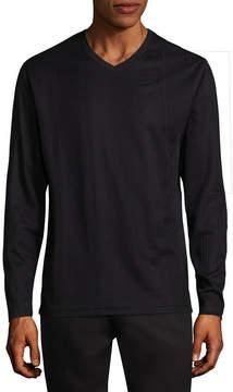 Claiborne Drop Needle Long Sleeve V Neck T-Shirt