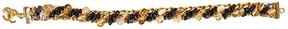 One Kings Lane Vintage Chanel Glass & Gold Bracelet - Vintage Lux
