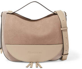 J.W.Anderson Moon Suede And Leather Shoulder Bag - Beige