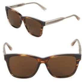Bottega Veneta Tinted 55MM Rectangle Sunglasses