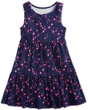 Epic Threads Little Girls Star-Print Super-Soft Dress, Created for Macy's