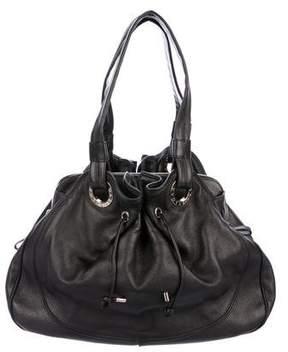 Bvlgari Leather Drawstring Shoulder Bag