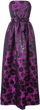 Carolina Herrera Floral sheen jacquard gown