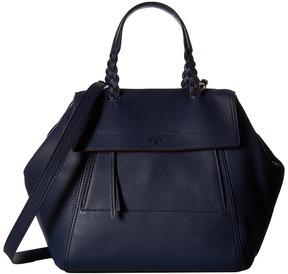 Tory Burch Half-Moon Satchel Satchel Handbags - ROYAL NAVY - STYLE