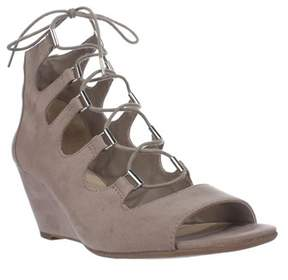 Bar III B35 Kerry Lace Up Gladiator Wedge Sandals, Portico.