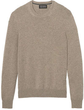 Banana Republic Todd & Duncan Cashmere Crew with Suede Elbow Patches