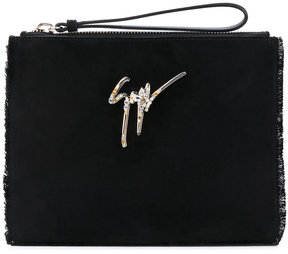 Giuseppe Zanotti Design Margery frayed clutch
