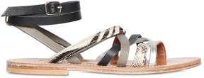 K Jacques St Tropez Aphrodite Leather & Ponyskin Sandals