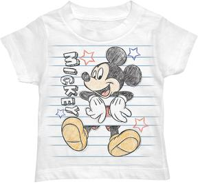Disney Disney's Mickey Mouse Toddler Boy Scribbled Notebook Graphic Tee