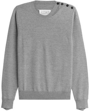 Maison Margiela Distressed Wool Pullover with Buttons