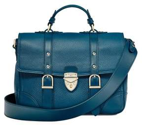 Aspinal of London Small City Mollie Satchel In Topaz Pebble