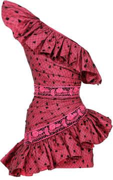 Raisa Vanessa Fuchsia One Shouldered Mini Dress