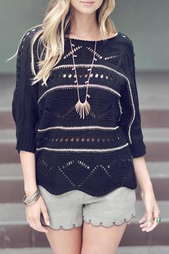 Double Zero Gold Detailed Sweater