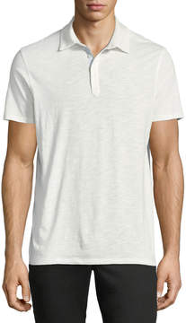 Neiman Marcus Slub-Knit Sport Shirt, White