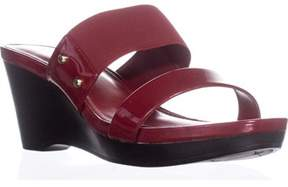 Lauren Ralph Lauren Lauren by Ralph Lauren Rhianna Wedge Slide Sandals, Bright Red.