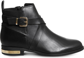 Office Archer buckled leather ankle boots