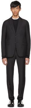 Prada Black Tela Mohair Suit