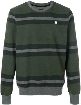 G Star striped sweatshirt