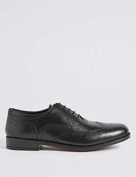 Marks and Spencer Extra Wide Fit Leather Brogue Shoes