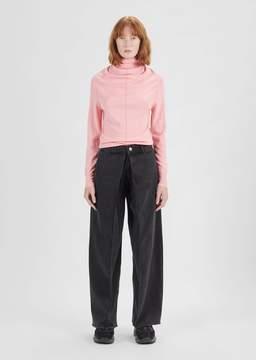 Aalto Pleats Cropped Jeans Black Washed Size: FR 34