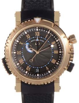 Breguet Marine Royal Black Dial Rubber Men's Watch
