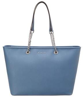 MICHAEL Michael Kors Jet Set Multifunction Leather Tote. - BLUE - STYLE
