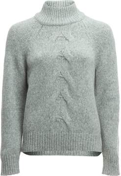 White + Warren Center Cable Standneck Sweater