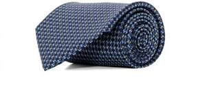 Salvatore Ferragamo Men's 0682497 Blue Silk Tie.