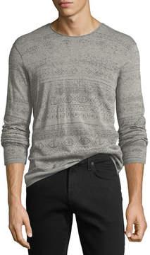 John Varvatos Graphic-Print Crewneck Sweater