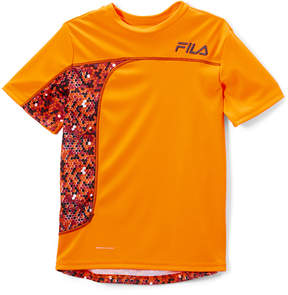 Fila Shocking Orange Pixel Performance Tee - Boys