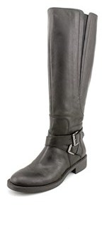 Enzo Angiolini Scarly/wc Women Round Toe Leather Black Knee High Boot.