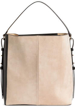 H&M Hobo bag with suede details - Black