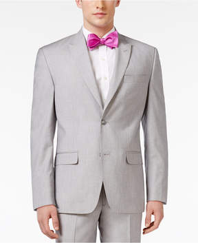 Sean John Men's Classic-Fit Gray and Silver Sharkskin Sport Coat