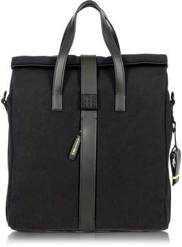 Bric's Black Nylon and Leather Tote Bag