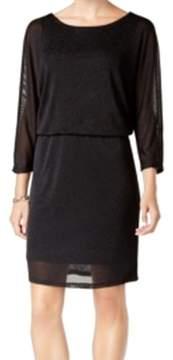 Nine West Women's Metallic Blouson Sheath Dress