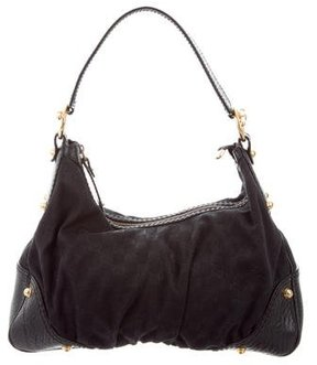Gucci GG Medium Jockey Hobo - BLACK - STYLE