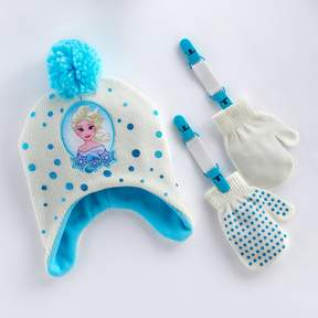 Disney Disney's Frozen Elsa Toddler Girl Hat & Mittens Set