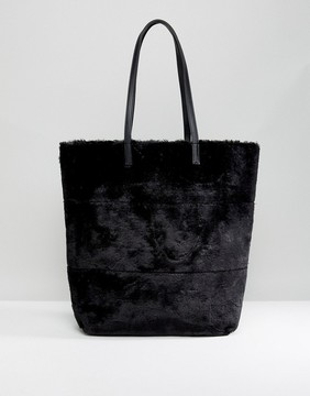 New Look Oversized Faux Fur Tote Bag