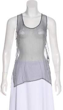 Anthony Vaccarello Striped Sleeveless Top w/ Tags
