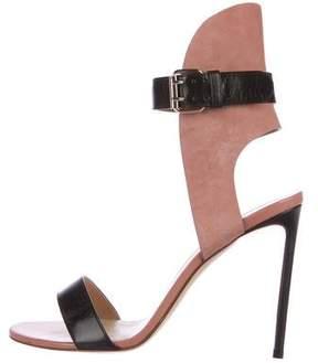 Francesco Russo Bicolor Ankle Strap Sandals