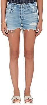 3x1 Women's Stripped Shelter Denim Cutoff Shorts