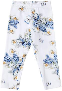 MonnaLisa Floral Printed Cotton Jersey Leggings
