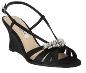 Nina Viani Satin Wedge Sandals
