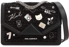 Karl Lagerfeld K/Klassik Lurex Tweed & Leather Bag